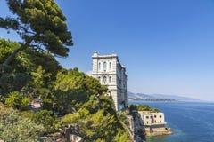 Edificio del museo oceanográfico en Mónaco Foto de archivo