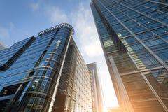 Edificio del negocio en Canary Wharf. Fotografía de archivo