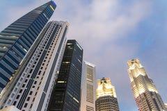 Edificio del negocio en Singapur Imagenes de archivo