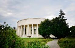 Edificio del pabellón de Mestrovic en Zagreb fotografía de archivo