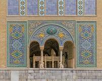 Edificio del palacio de Golestan de Karim Khan de Zand Fotos de archivo libres de regalías