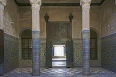 Edificio del palacio de Telouet Kasbah dentro Imagen de archivo libre de regalías
