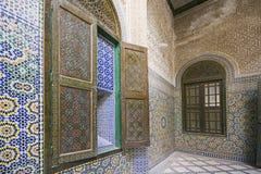 Edificio del palacio de Telouet Kasbah dentro Imagen de archivo