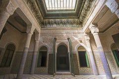 Edificio del palacio de Telouet Kasbah dentro Fotos de archivo libres de regalías