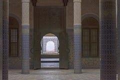 Edificio del palacio de Telouet Kasbah dentro Imágenes de archivo libres de regalías
