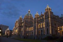 Edificio del parlamento de la Columbia Británica de Victoria Imagen de archivo libre de regalías