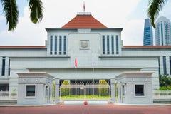 Edificio del parlamento de Singapur Fotos de archivo libres de regalías