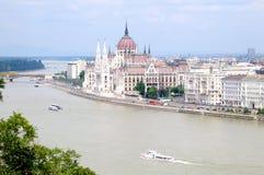 Edificio del parlamento en Budapest Fotos de archivo libres de regalías