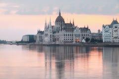 Edificio del parlamento en Budapest, Hungría imagen de archivo libre de regalías