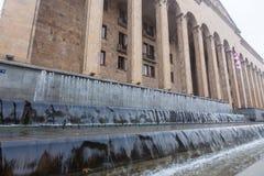 Edificio del parlamento en el bulevar de Rustaveli Fotografía de archivo