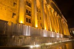 Edificio del parlamento en el bulevar de Rustaveli Foto de archivo libre de regalías