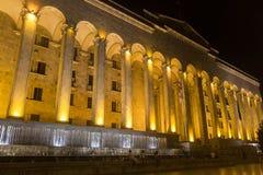 Edificio del parlamento en el bulevar de Rustaveli Fotos de archivo