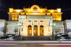 Edificio del parlamento en Sofía, Bulgaria foto de archivo libre de regalías