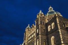 Edificio del parlamento en Victoria, A.C. fotografía de archivo