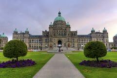 Edificio del parlamento en Victoria, A.C., Canadá foto de archivo