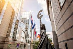 Edificio del Parlamento Europeo en Bruselas Fotografía de archivo