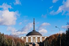 Edificio del parque de la victoria de Moscú Foto de archivo libre de regalías