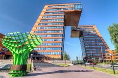 Edificio del parque del techno de la universidad de estado de Novosibisk Fotos de archivo