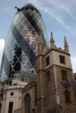 Edificio del ?pepinillo? de Londres Foto de archivo libre de regalías