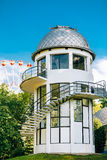 Edificio del planetario en Minsk, Bielorrusia imagen de archivo libre de regalías