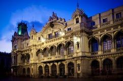 Edificio del puerto Barcelona, España Foto de archivo libre de regalías
