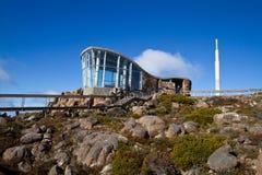 Edificio del puesto de observación en Mt Wellington Fotos de archivo libres de regalías