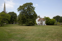 Edificio del refectorio de la iglesia Foto de archivo libre de regalías