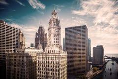 Edificio del reloj de Chicago Foto de archivo libre de regalías