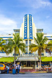 Edificio del rompeolas con Art Deco Style en Miami Beach Imagen de archivo