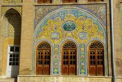 Edificio del Sun del palacio de Golestan, Teherán, Irán Foto de archivo
