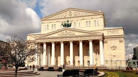 Edificio del teatro de Bolshoi en Moscú el 2018 almacen de metraje de vídeo
