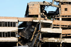 Edificio del terremoto foto de archivo libre de regalías