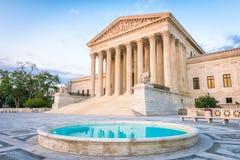 Edificio del Tribunal Supremo de Estados Unidos Imagen de archivo libre de regalías