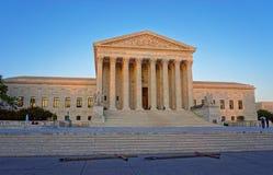 Edificio del Tribunal Supremo de Estados Unidos en Washington Imagen de archivo libre de regalías