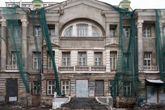 Edificio del vintage bajo reconstrucción Foto de archivo