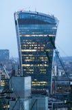 Edificio del Walkietalkie y actividades bancarias de Canary Wharf y aria de la oficina en el fondo Londres, Reino Unido Fotografía de archivo libre de regalías