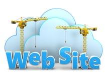 Edificio del Web site Imagenes de archivo