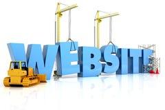 Edificio del Web site, bajo la construcción o reparación Foto de archivo libre de regalías
