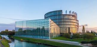 Edificio della Louise Weiss del Parlamento Europeo Fotografie Stock Libere da Diritti