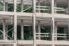 Edificio demolido Imagen de archivo