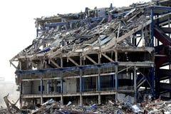 Edificio demolido Foto de archivo libre de regalías