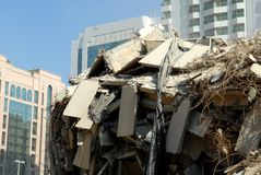 Edificio demolido foto de archivo