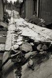 Edificio destruido Foto de archivo libre de regalías