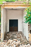 Edificio destruido Fotos de archivo libres de regalías