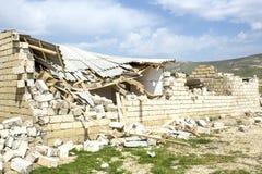 Edificio destruido - escombros Imagen de archivo libre de regalías