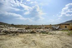 Edificio destruido - escombros Imagenes de archivo