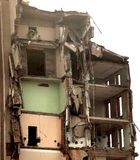 Edificio destruido foto de archivo