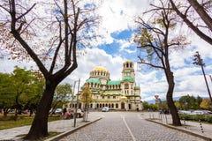 Edificio di Alexander Nevsky Cathedral Immagine Stock