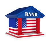 Edificio di American Bank isolato royalty illustrazione gratis