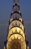Edificio di Chrysler al tramonto, New York, NY Fotografie Stock Libere da Diritti